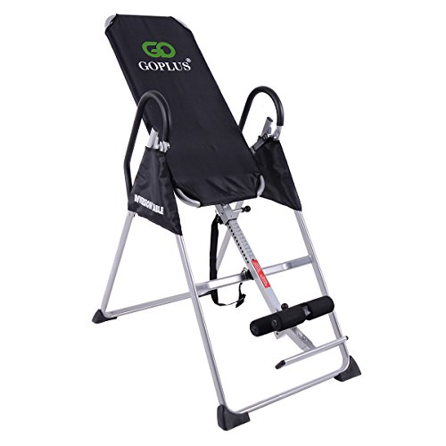 Goplus Gravity Fitness Therapy Inversion Table Adjustable Folding Back Therapy Table Reflexology...