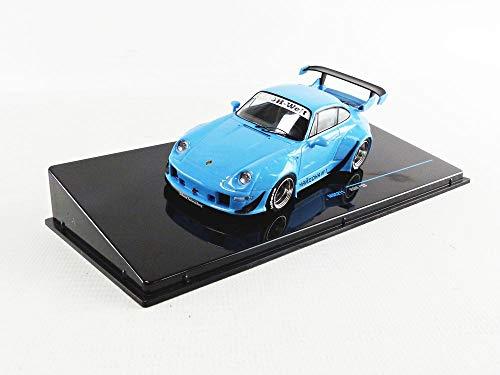 Ixo kompatibel mit Porsche RWB RAUH-Welt 993 blau Modellauto 1:43 Models