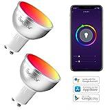 GU10 Bombilla Wifi Inteligente, Avatar Controls Inalambrica Dimmable 5w RGB LED Lámpara Control Remoto Compatible con Google...