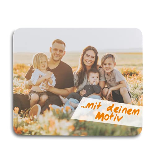 Kopierladen Karnath GmbH Mousepad/Mauspad mit eigenem Foto, Bild oder Text gestalten, ca. 22 x 18 cm, personlisierbar, rutschfest und flexibel - Fotogeschenk
