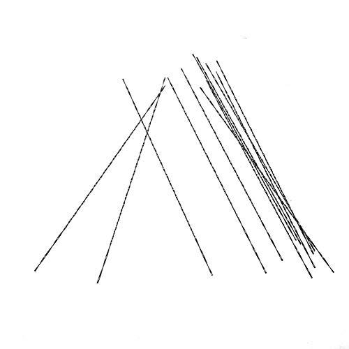 12 stücke Scroll Sägeblätter, Dekupiersägeblätter, Feinschnitt Sägeblätter Mit Spiralzähnen für Holz Metall Kunststoff Schneiden Sägen Carve(7#)