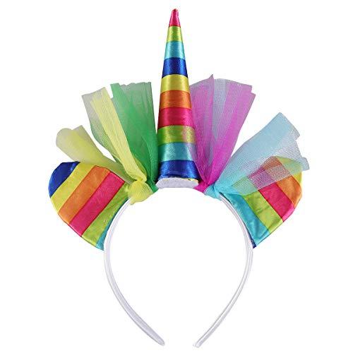 Amosfun Einhorn Stirnband Kopfbedeckung Kopfbedeckung mit Katzenohren Karneval Stirnband Einhorn Kostüm Geburtstagsparty bevorzugt Geschenke