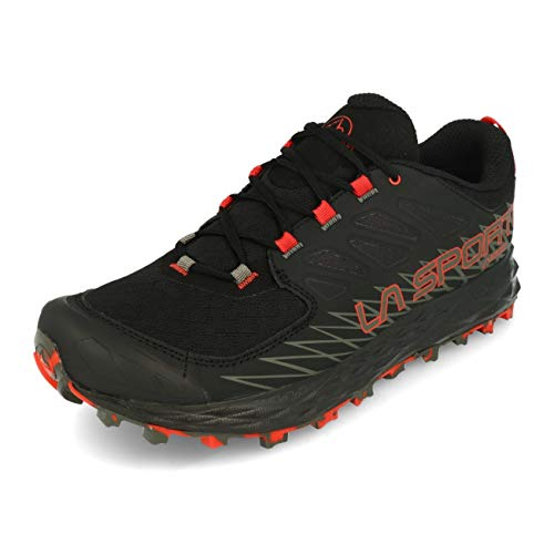 LA SPORTIVA Lycan GTX, Zapatillas de Trail Running Hombre, Black/Poppy, 42 EU