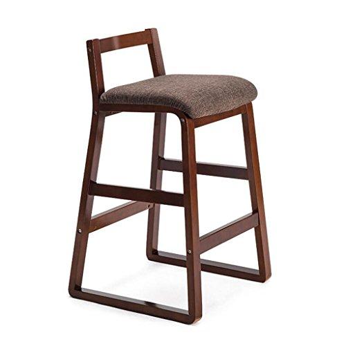 Rollsnownow Coussins rouge-brun Cadre en bois brun chaise de bar maison moderne Tabouret haut en bois massif chaise de bar rétro tabouret haut (Size : High 68cm)