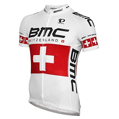 Strgao 2016 Herren Radtrikot Shirt Kurzarm Pro Team BMC MTB Radfahren Top Radshirt Atmungsaktiv Durchgehender Rei?Verschluss
