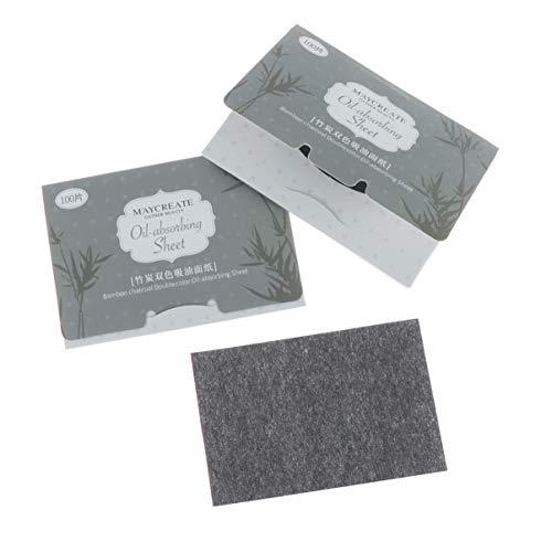 Beaupretty huile de papier de contrôle de l'huile naturelle absorber les tissus prime huile de visage blot papier feuilles soin du visage 100pcs 6 pack