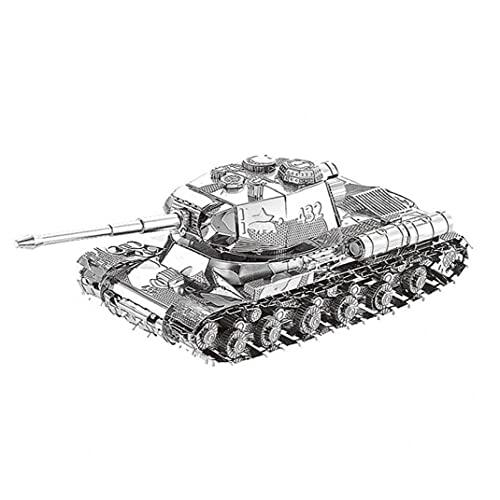 Puzzle Nanyuan 3D Metal -2 Tanque Militar Armas Modelo DIY Cut Ensamble Rompecabezas Juguetes De Escritorio Regalo Decoración De Auditoría