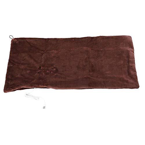 Velvet USB Heizdecken, Heizdecke, Energiesparendes Anti-Fade-Energiesparbüro für warmes Zuhause im Winter(Brown)