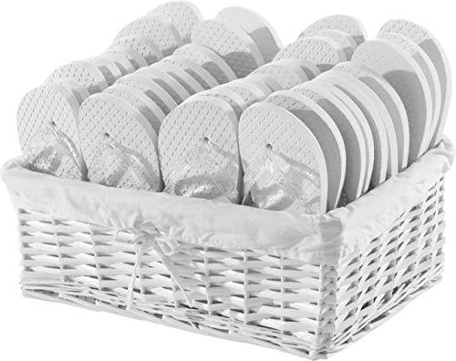 ZOHULA Weiß Hochzeit Glitzer Flip Flop Party Pack - 20 Paar ([Sx2][Mx15][Lx3])