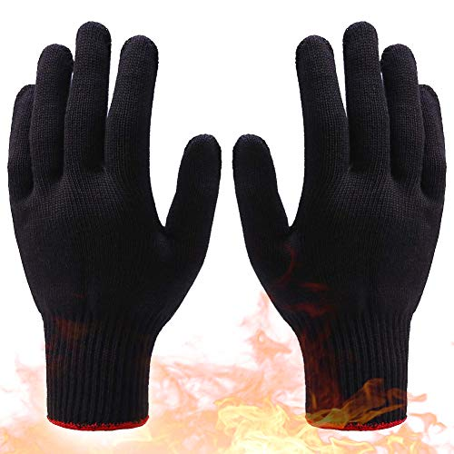Heat Resistant Gloves, 392°F Curly Hair/Straight Hair Anti-scalding Tools, Gloves for Hair Styling...