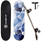 METROLLER Skateboards,31 x 8 Complete Standard Skate Boards for Girls Boys Beginner, 7 Layer Canadian Maple Double Kick Concave Skateboard for Kids Youth Teens