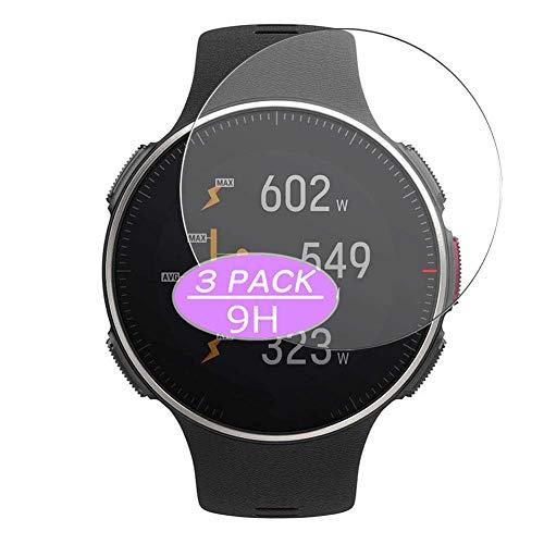 Vaxson 3 Stück 9H Panzerglasfolie, kompatibel mit Polar Vantage V Titan smartwatch Smart Watch, Panzerglas Schutzfolie Displayschutzfolie Bildschirmschutz