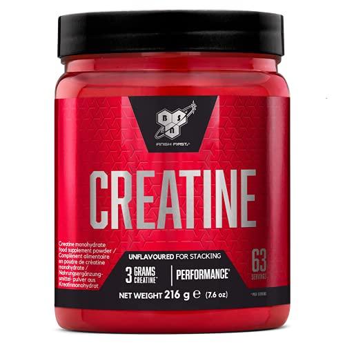 BSN DNA Creatine Monohydrat Pulver, Kreatin hergstellt für Leistungssteigerung, Unflavoured, 63 Portionen, 216 g