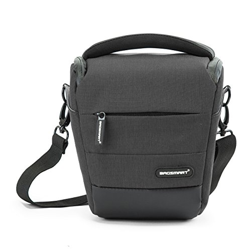 BAGSMART Compact DSLR Camera Bag Shockproof Case Travel Padded Holster Shoulder Bag for Canon, Nikon, Olympus, Pentax, Sony, Samsung Digital Camera