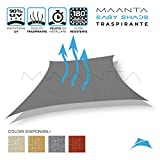 Maanta EasyShade - Cortinas con toldo EasyShade Breathable-HDPE 180 g/m², Color Grafito