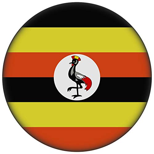 FanShirts4u Button/Badge/Pin - I Love UGANDA Fahne Flagge (UGANDA/Flagge)