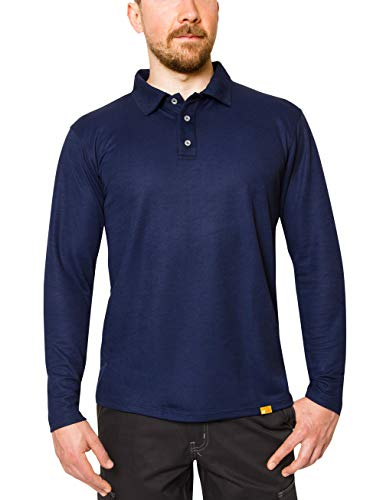 iQ-UV Herren Langarm Polo Shirt, royalnavy, XL