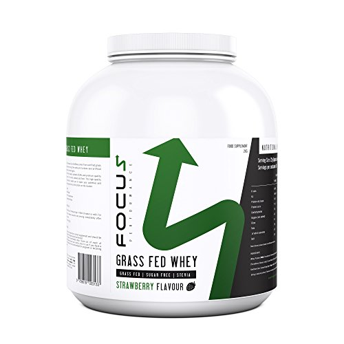 FP Grass Fed Whey Protein Powder | Low Calorie & Low Carb Protein Shake for Post Gym Workout & Muscle Building | No Artificial Sugars or Sweeteners | 80 Servings, 2KG (Strawberry)
