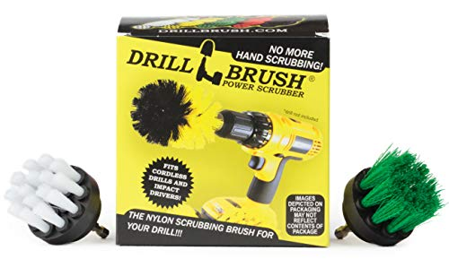Drill Brush - Grout Cleaner - 2-inch Diameter Round Spin Brush Set - Kitchen Accessories - Scrub Stove, Oven, Sink, Tile - Carpet Cleaner - Leather, Upholstery, Fabric - Wheel Brush - Glass Cleaner