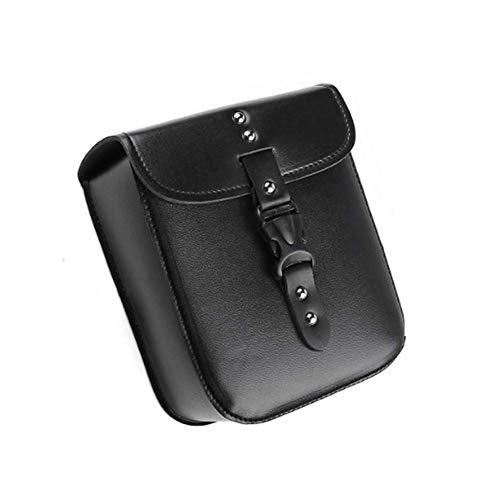 Zidao Motorcycle Small side saddle bag, PU leather Waterproof Motorcycle tank bag baggage page remova saddlebag toolbox tank bag Black,Black