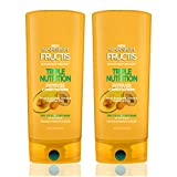 Garnier Hair Care Fructis Triple Nutrition Conditioner, For Dry to Very Dry Hair, Nourishing and Moisturizing Conditioner, Made With Avocado, Olive, and Almond Oils, 22 Fl Oz, 2 Count