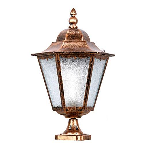 AMZH Al Aire Libre de Vidrio Pared de luz Cerca de la lámpara Cabeza de la lámpara Impermeable Puerta de la lámpara Jardín Luz Jardín Europeo, Trumpet Bronze