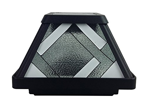 Moonrays 91262 Montclair-Style Premium Output Solar Powered Stained Glass LED Post Cap Light