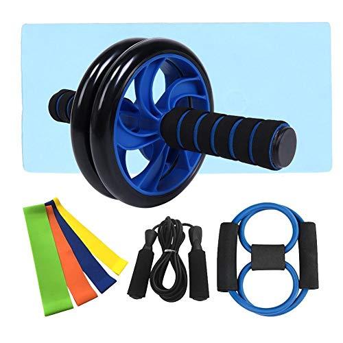 BYARSS Abdominal Training Roller Rad überspringen Seil Brust Expander Fitnessgeräte Set