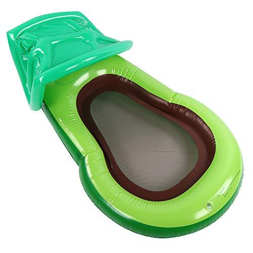 Flotador inflable para piscina, flotador inflable de aguacate, con toldo para sombrilla, forma de aguacate, súper flotabilidad, seguro, no tóxico y duradero, para anillos flotantes en la playa, fiesta