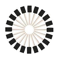 塗装 クラフト ツール ットスポンジブラシ 木製 ハンドル まで 20個