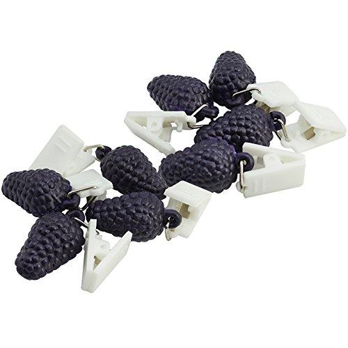 com-four® 8X Poids de la Nappe avec Pinces - Poids de la Nappe en Forme de Fruit - Attache de Nappe en Plastique de 18g