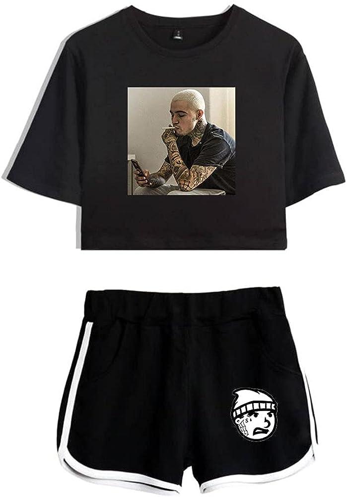 Tydres Gera MX 2 Piece Sets Hip Hop Short Sleeve Suit Womens Girl Set Casual Accessories Fashion Suit (BB-YM00709,XL)