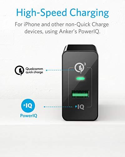Anker PowerPort+1 18W USB Ladegerät mit Quick Charge 3.0 und Power IQ für Galaxy, iPhone, iPad usw