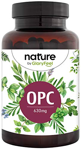 OPC Grape Seed Extract Supplement - Highest HPLC OPC Content - 1.050mg Extract with 630mg Pure OPC per Day - from French Grapes - 180 Vegan Capsules Laboratory Tested Made in Germany