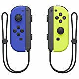 controller nintendo switch set da 2 joystick, giallo neon/blu