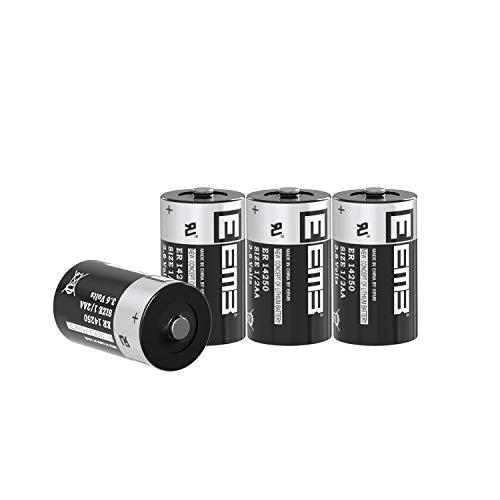4X EEMB 1/2 AA 3,6V Li-SOCl2 Batterien ER14250 LS 14250/3,6V Lithium-Thionylchlorid 1/2 AA 1200 mAh/Li-SOCl4 Batteries mit extrem hoher Energiedichte Nicht wiederaufladbar