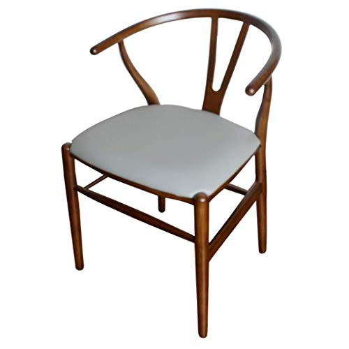 LAZ Wishbone Chair Mid-Century Legno Cucina e Dining Chair Camera in Natural (Colore : #4)
