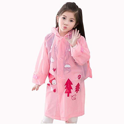 SLM-max Regenjas voor kinderen, eendelige regenjas, tassenpositie, outdoor draagbare, transparante Poncho - EVA-materiaal
