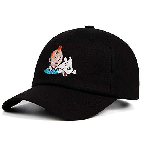 LXYSLX Sombrero De Papá 100% Algodón Gorra De Béisbol Bordada Correa Personalizada Volver Unisex Estaño Ajustable Mujeres Hombres Sombreros