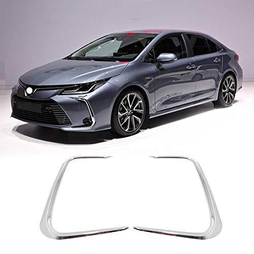 VNASKH Luces antiniebla Delanteras, luz antiniebla, moldura deCubierta de Marco de Anillo de lámpara, para Toyota Corolla E210 Prestige Altis 2019 2020