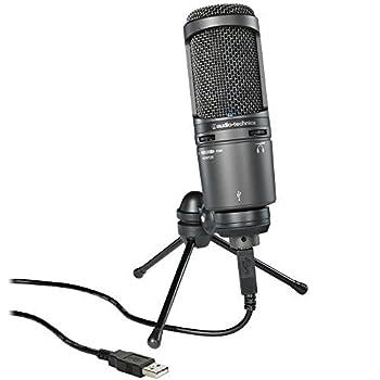 Audio-Technica AT2020USB+ Cardioid Condenser USB Microphone  Renewed