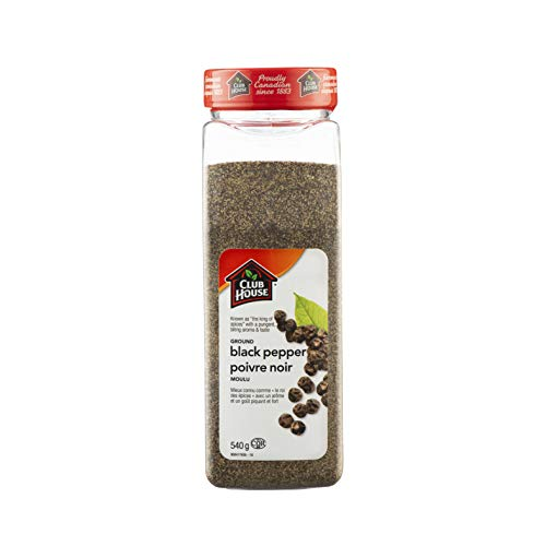 Club House, Quality Natural Herbs & Spices, Ground Black Pepper, 540g