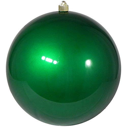 Christmas by Krebs Giant Commercial Shatterproof UV Resistant Plastic Christmas Ball Ornament, 12' (300mm), Candy Green