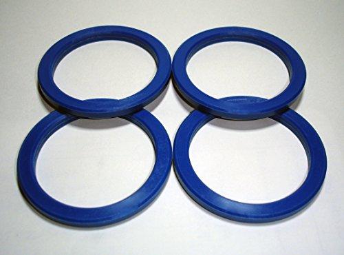 Centradores - 4 bagues de centrage pour jante de voiture 72.2 – 57.1 mm - En aluminium