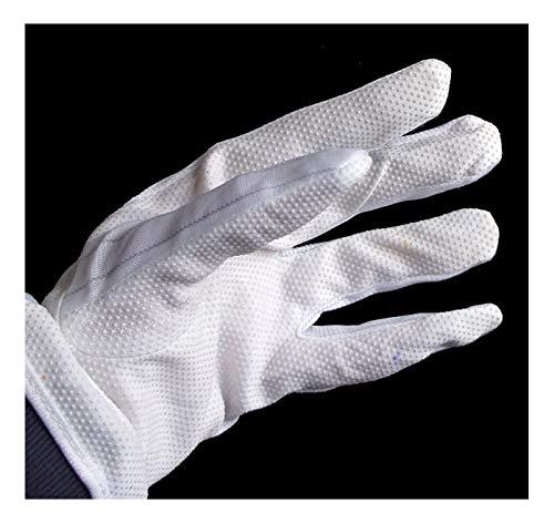 Main® 10 paires Gl3 antidérapant Gants de travail Blanc Poids léger Gants – Taille Medium extensible