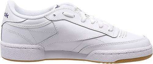 Reebok Herren Club C 85 Sneaker, Weiß (Intense White/Royal-Gum), 45.5 EU