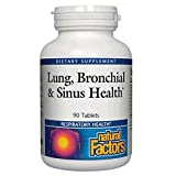 Lung, Bronchial & Sinus Health by Natural Factors, Natural Supplement for Respiratory Health and Easy Breathing, 90 tablets (90 servings)