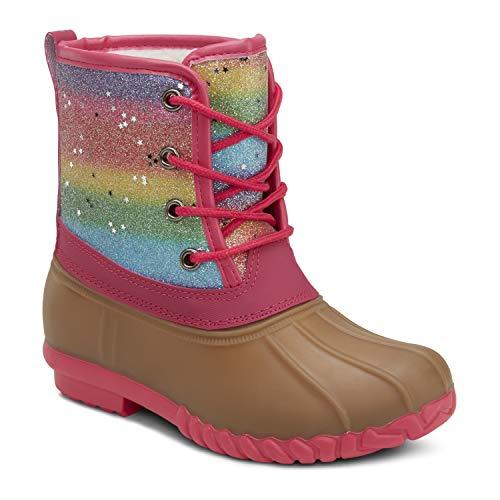 Girls Rainbow Glitter Duck Boots Size 11