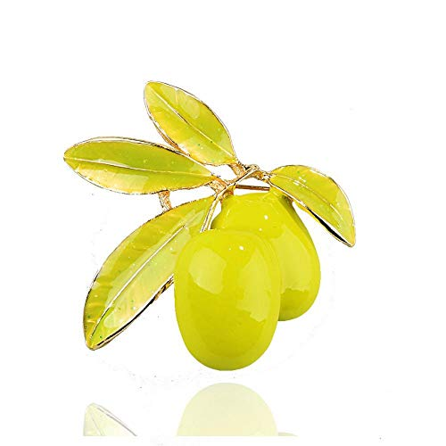 Ludage Exquisito Fruta de Oliva Broche de Moda Color Gota Pin Chicas Accesorios