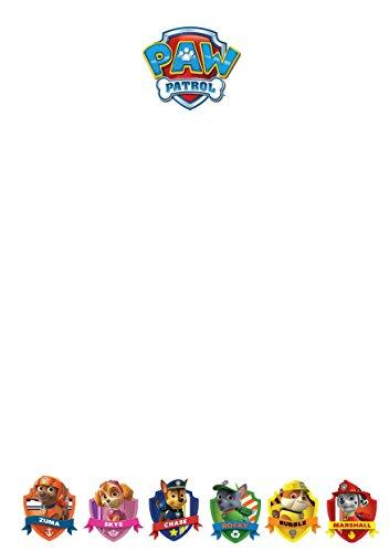 25 A5 Paws Patrol Motif/d'écriture sur le thème des petits Établissements papier – Uni papeterie